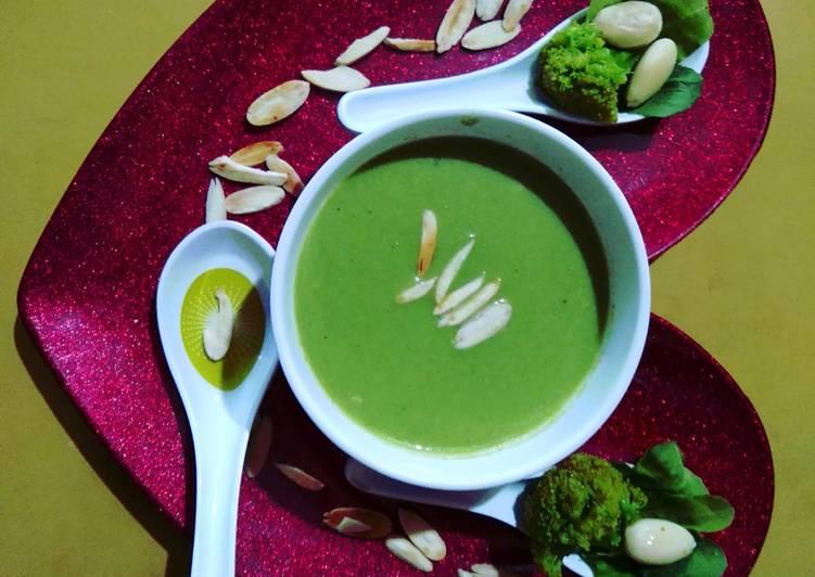 Steps to Prepare Perfect Broccoli Almond Soup