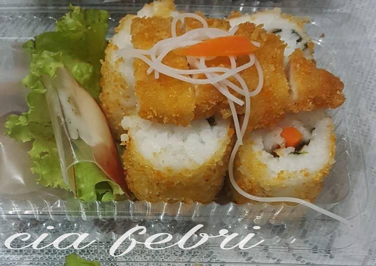 Chicken katsu & sushi goreng ala fe'