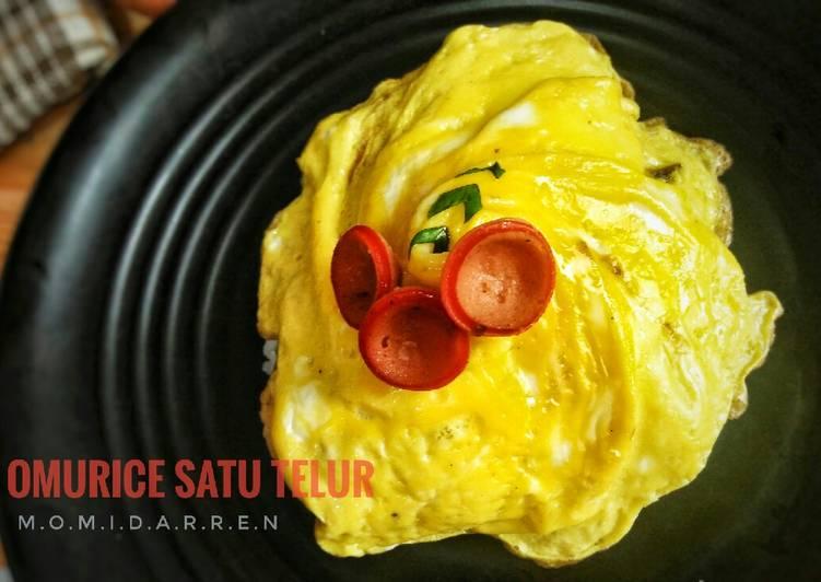 Resep Omurice satu telur anti gagal Paling dicari