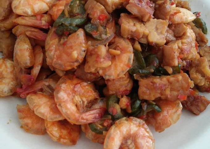 Resep Udang Tumis Pare (udang, tempe, pare) oleh Siluh ...