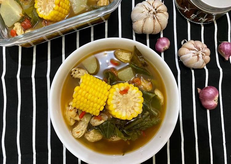 Sayur Asem Bumbu Bakar   Indonesian Vegetable Tamarind Soup
