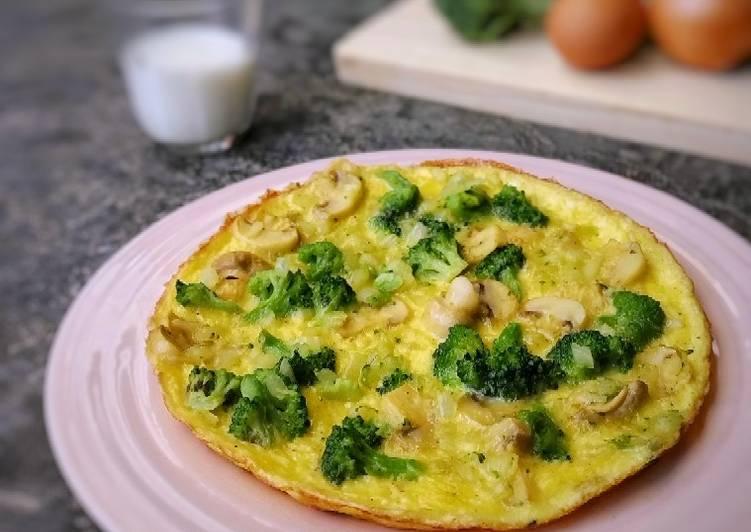 121. Omelet Brokoli Jamur Kaya Gizi