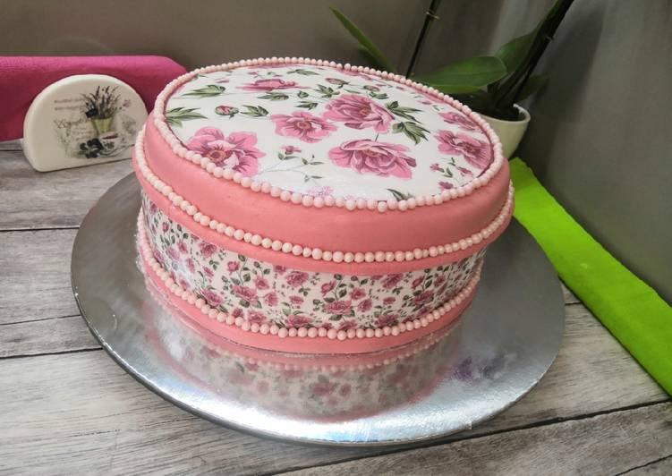 Glutén- és tejmentes málnakrémes torta recept foto