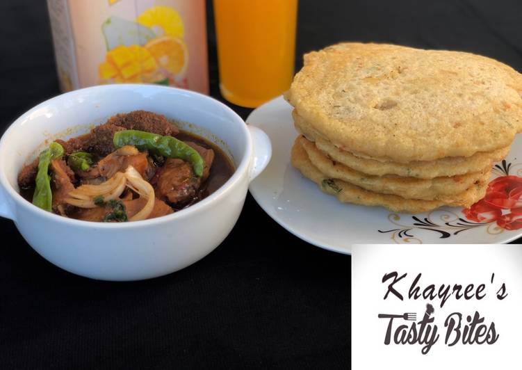 Quick Tips Semolina pancake with chicken and offal pepper soup