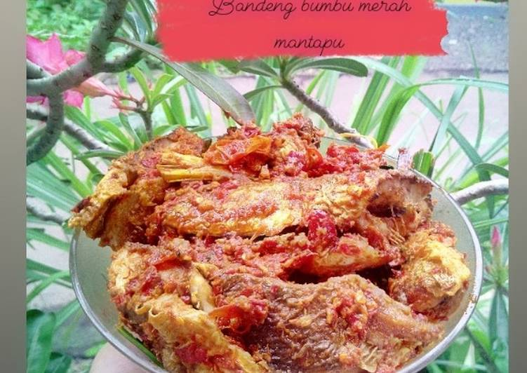 Bandeng sambal merah mantapu👌