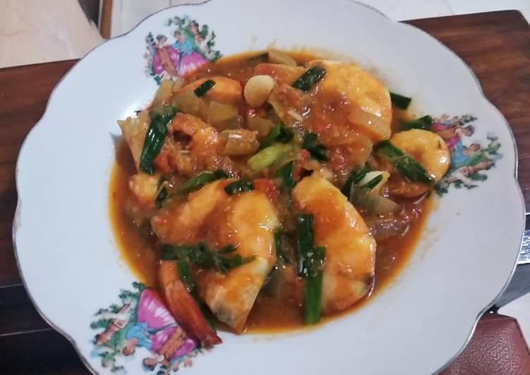 Udang saos Padang recook - cookandrecipe.com