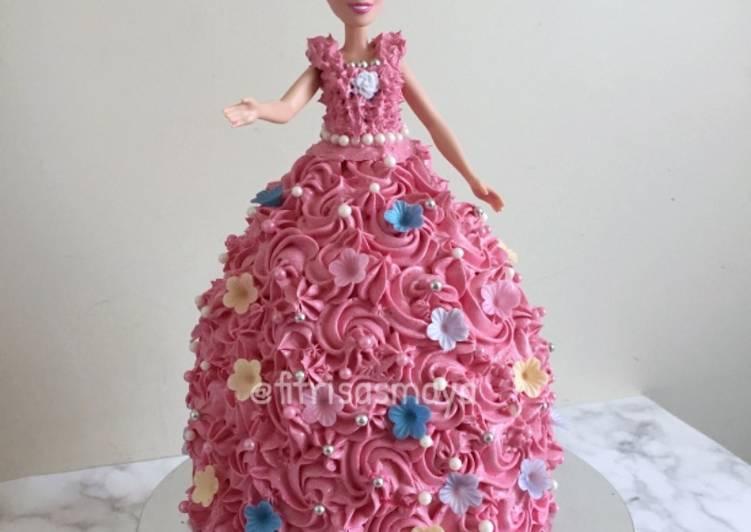 Resep Barbie Birthday Cake Oleh Fitri Sasmaya Cookpad