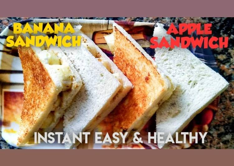 Easiest Way to Make Delicious BANANA SANDWICH & APPLE SANDWICH