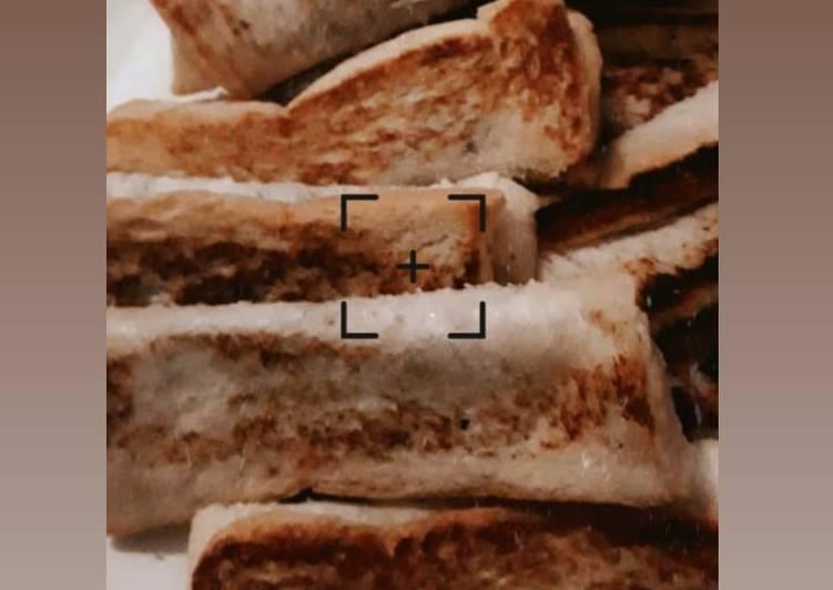 Roti Bakar Gulung 3 bahan saja