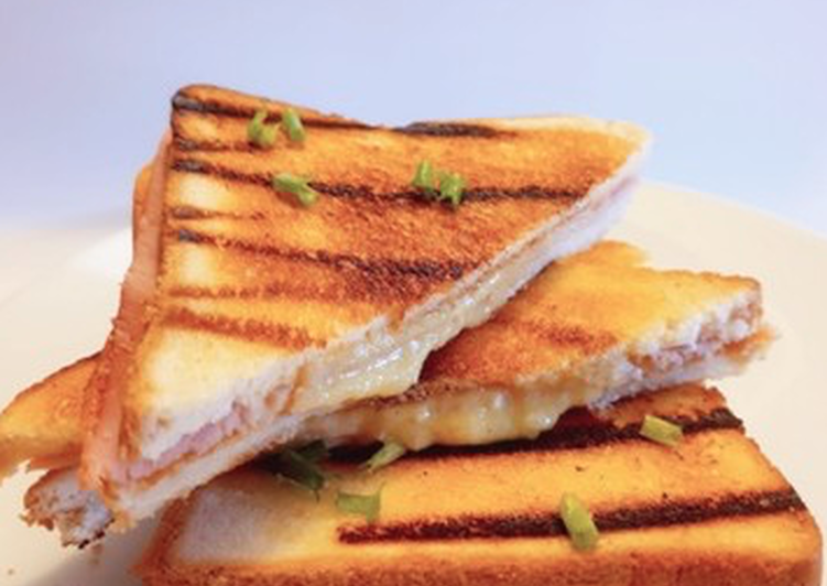 Recipe: Yummy Croque-monsieur croustillant de Cyril Lignac