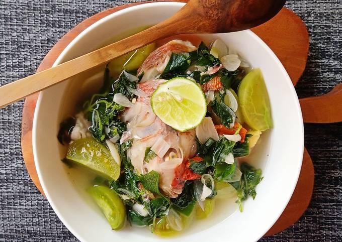 Sup Ikan nila (menu defisit kalori) no oil