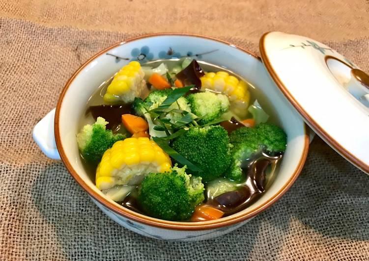 Cách Làm Món Canh bông cải xanh nấu bắp của Bảo Bình - Cookpad