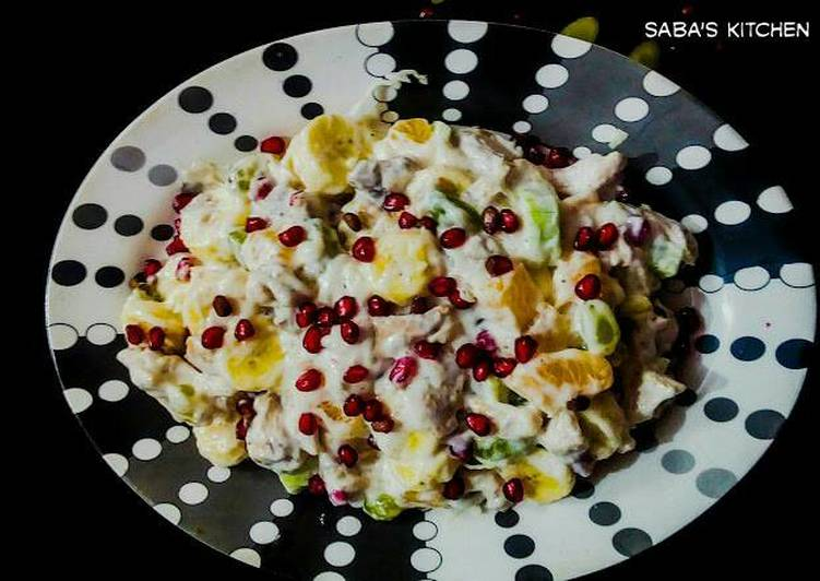 Simple Way to Prepare Homemade Chicken Hawain Salad