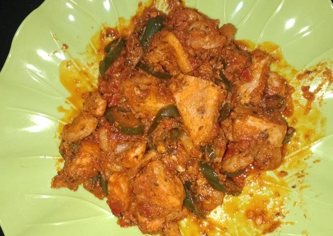 Ayam udang balado cabe ijo