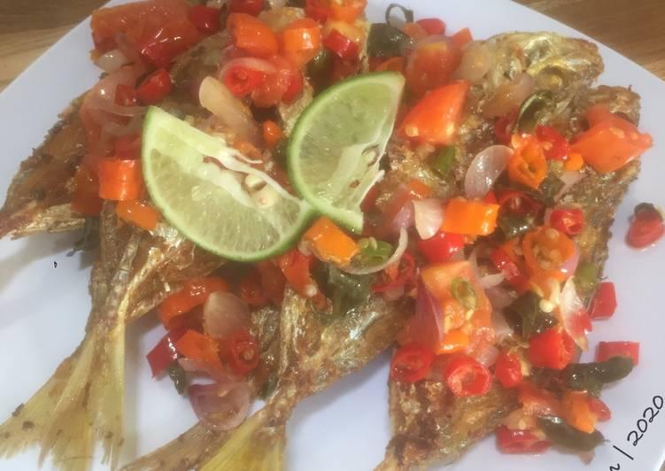 Ikan Selar Goreng Sambal Dabu Dabu
