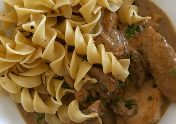 Chicken with Creamy Mustard  Marsala Sauce