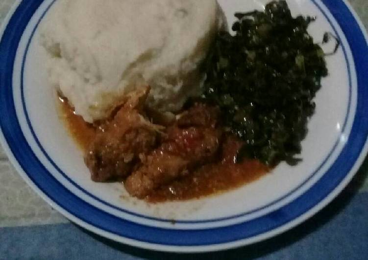 How to Prepare Speedy Spinach and pap