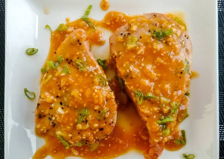 How to Make Perfect Easy Tuna Steak with Miso Ginger Sauce