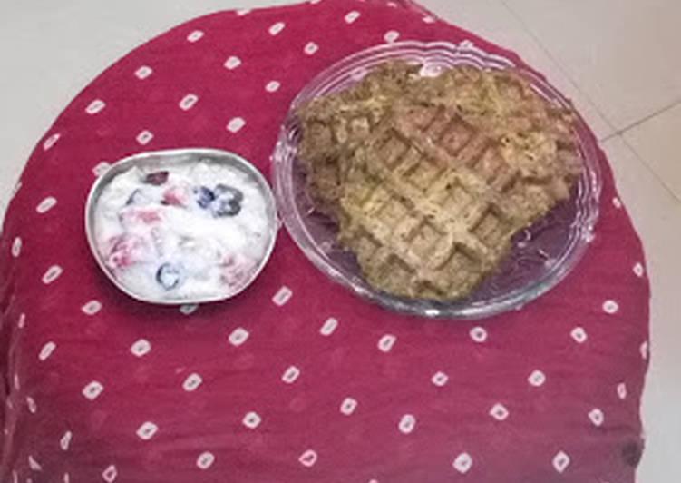 Nutri Waffles with fruity yoghurt