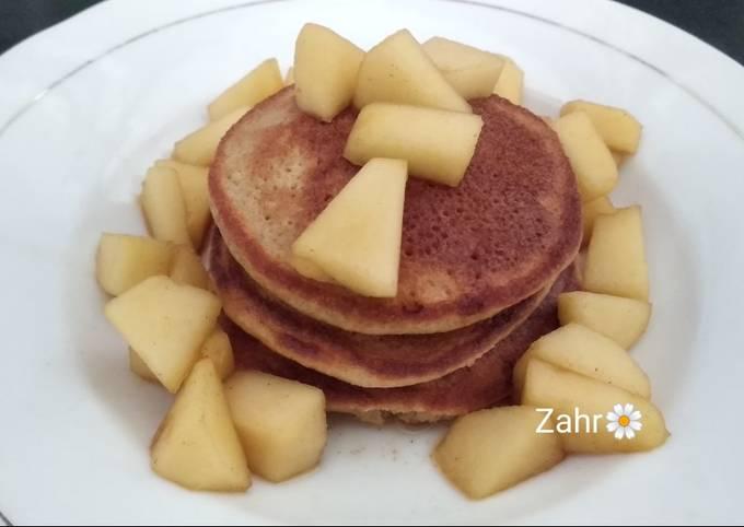 Almond Flour Pancake Saus Apel
