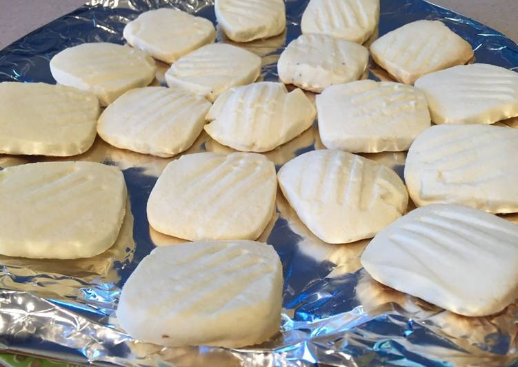 Quick butter biscuits