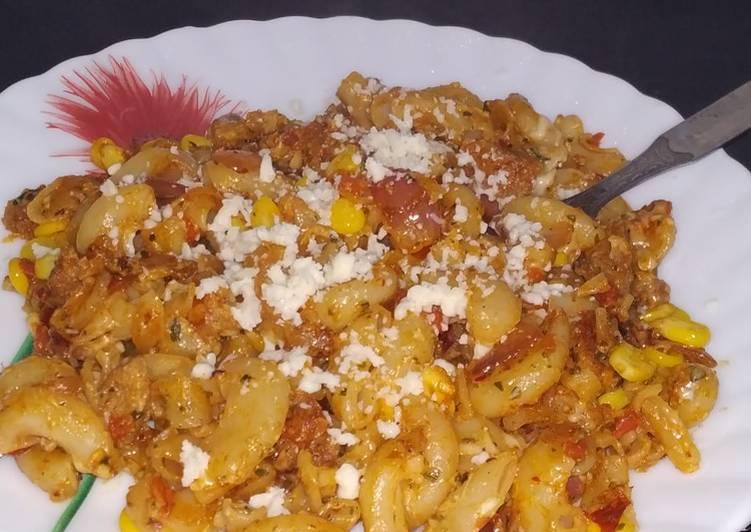 Recipe of Favorite Cheesy Soya Cavatappi Pasta