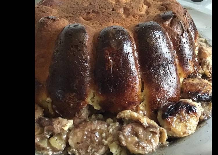 Gâteau brioché banane cannelle et citron