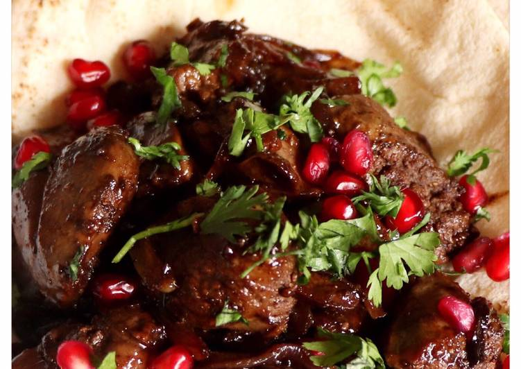 Recipe of Any-night-of-the-week Chicken livers with pomegranate molasses
