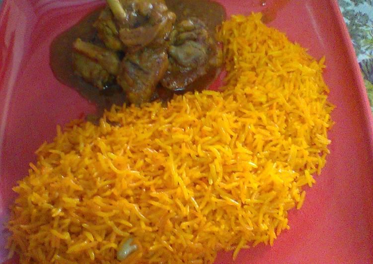 Pulao chicken kasha curry
