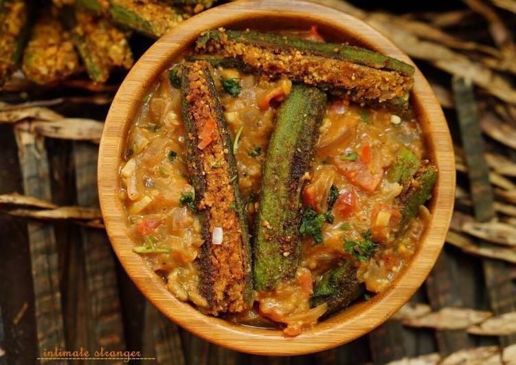 Bharwa Bhindi [ gravy]