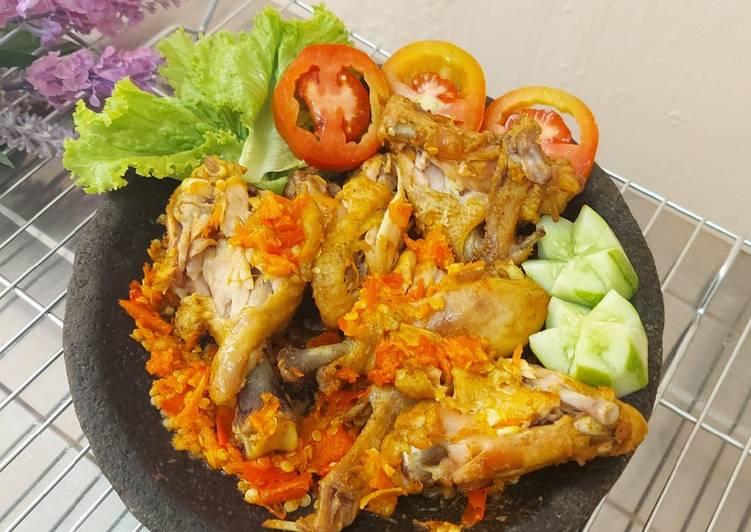 Resep Geprek Ayam (Sambel Bawang) Anti Gagal