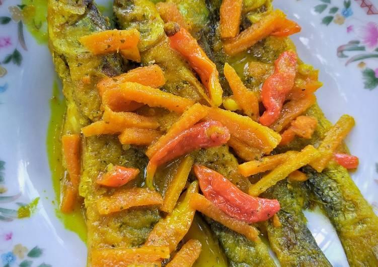 Ikan Belanak Acar Kuning - cookandrecipe.com