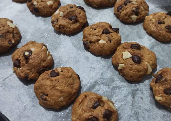 Almond Chocochips Cookies (NO MIXER)