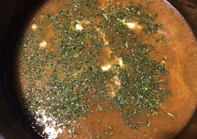 Soupe d épinards à la tomate