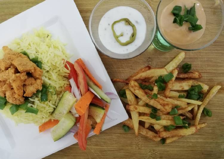 SHAWARMA RICE PLATTER #cookpadApp #Ricecomeptition