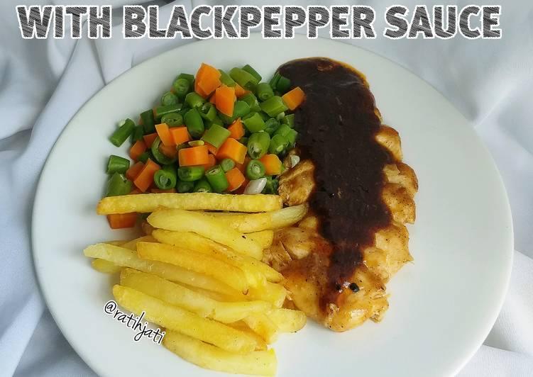 Chicken Steak Blackpepper Sauce