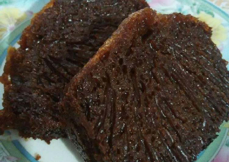 cara masak Sarang Semut (Cake Caramel) takaran kampung - Sajian Dapur Bunda