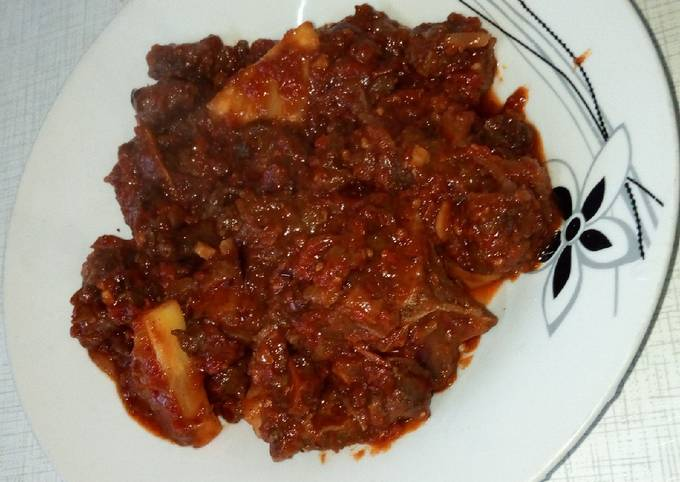 Spicy, Sweet and sour beef with pineapples