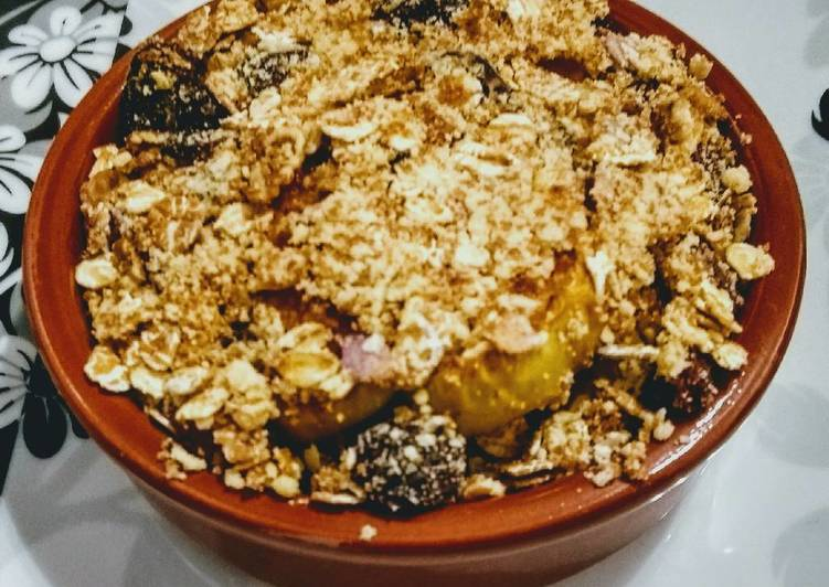 Steps to Make Perfect Individual Baked Apple, Honey & Cinnamon Crumble