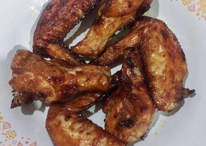 Sayap ayam bakar madu Air fryer