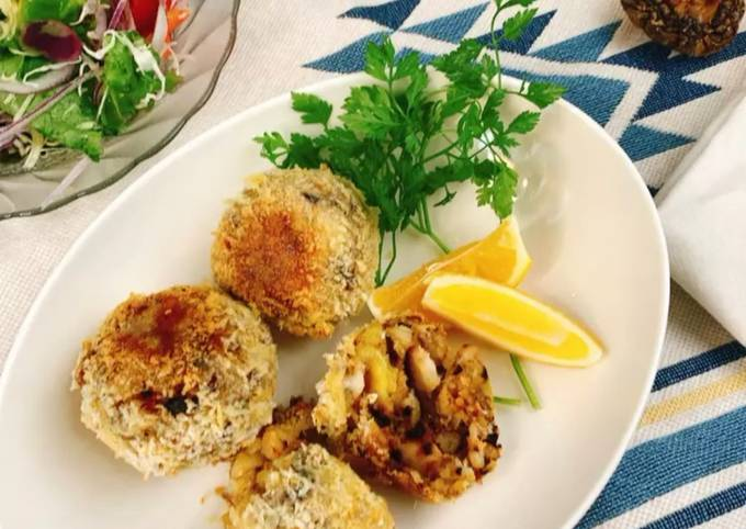 Tutorial Of Delicious Fish Cakes with Shiitake Powder Step by Step