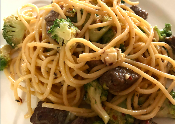 Easy Creamy Spaghetti with Beef and Broccoli #MasakanRumahan - projectfootsteps.org