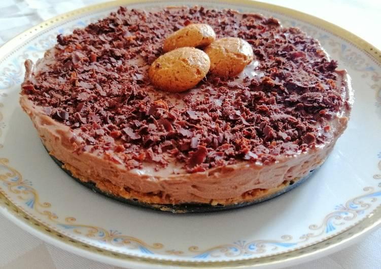 Cheesecake alla Nutella e amaretti