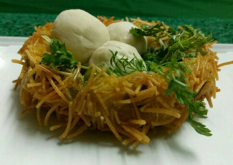 Nyam to Cook Favorite Vermicelli potato birds nest
