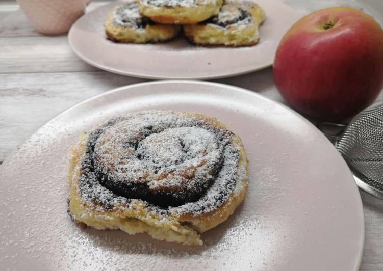 Glutén- és tejmentes kakaós csiga, reszelt almával recept foto