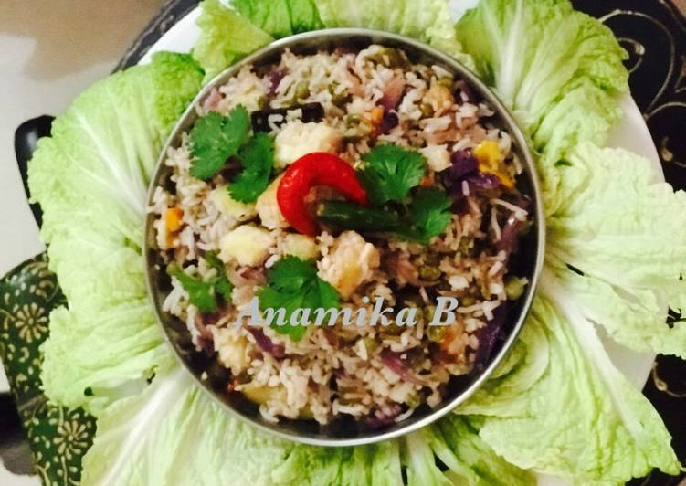 Steps to Prepare Speedy Paneer 🧀 Fried Rice 🍚💁🏻♀️