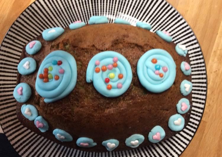 Gâteau intérieur arc en ciel