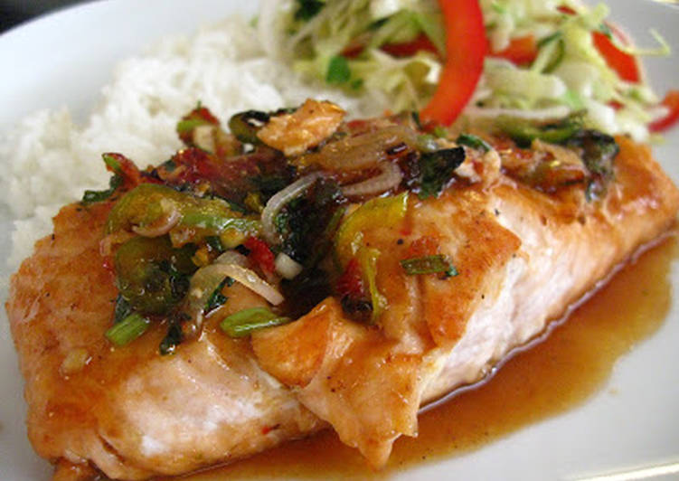 How to Prepare Delicious Easy Sweet & Spicy Thai-Inspired Maple Glazed Salmon