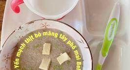 Hình ảnh món Cháo Yến mạch thịt bò măng tây phô mai