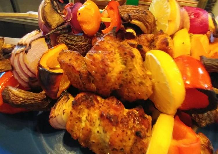 Recipe: Appetizing Fast BBQ turkey kebobs